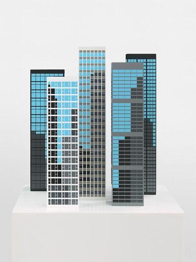 Julian Opie, 'Modern Towers 2', 2017