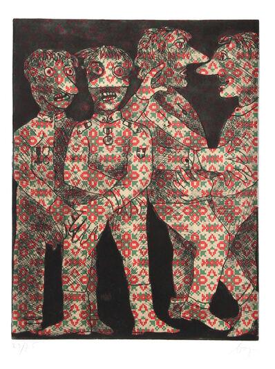 Enrico Baj, 'Untitled - Four Dancing Military Men', ca. 1960