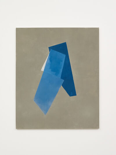 Peter Joseph, 'Two Blues and White on Grey', 2019