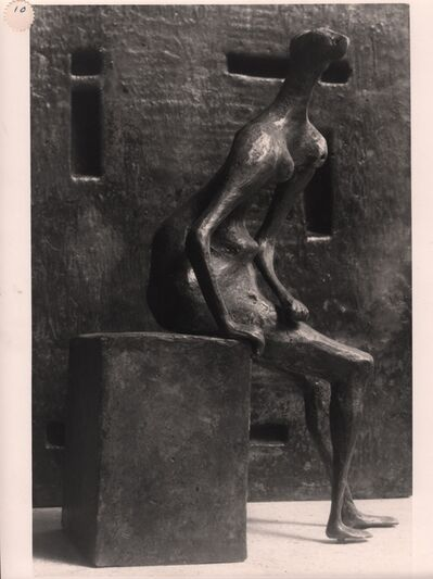 Henry Moore, 'Girl Seated Against Square Wall', 1957-1958