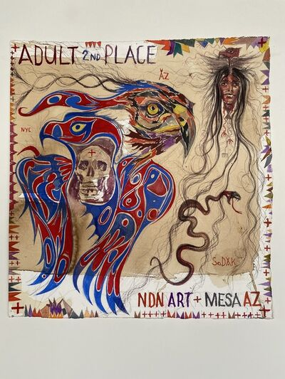 Brad Kahlhamer, 'Adult 2nd / NDN Art Mesa AZ', 2020