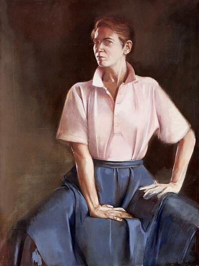 Peri Schwartz, 'Self Portrait in Pink Shirt', 1988