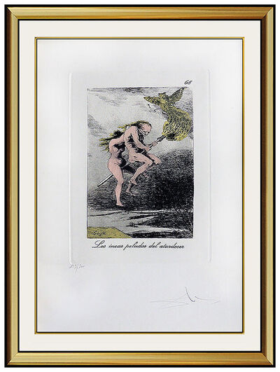 Salvador Dalí, 'Salvador Dali Etching HAND SIGNED Original Surreal Artwork Les Caprices De Goya', 1970-1989