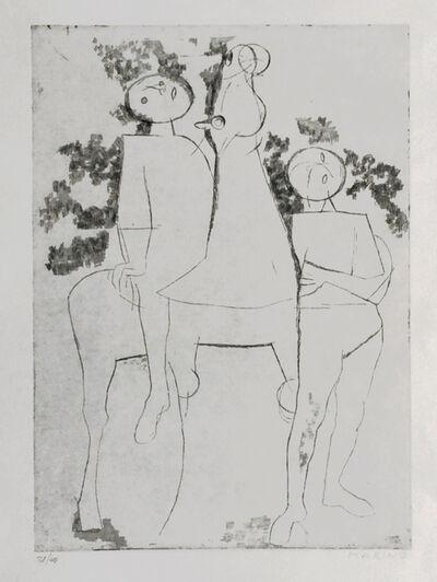 Marino Marini, 'Contemplativi', 1970