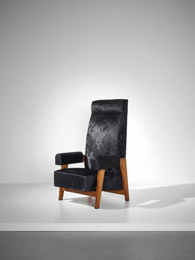 Le Corbusier, 'Rare 'Court's President' armchair, designed for the High Court, Chandigarh', 1955-1956