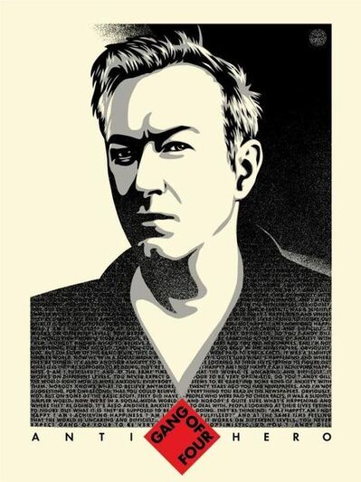 Shepard Fairey, 'Andy Gill anti-hero', 2020