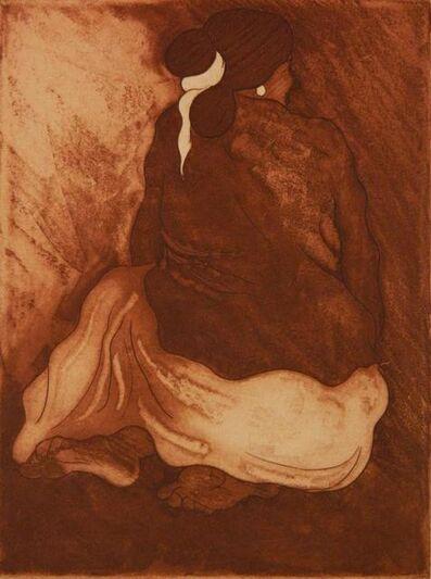 R.C. Gorman, 'Seated Navajo Woman', 1977