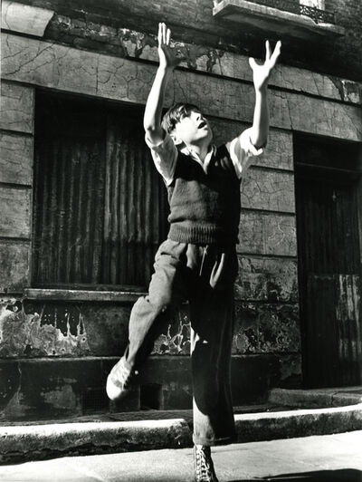Roger Mayne, 'Footballer Reaching, Brindley Road', 1957