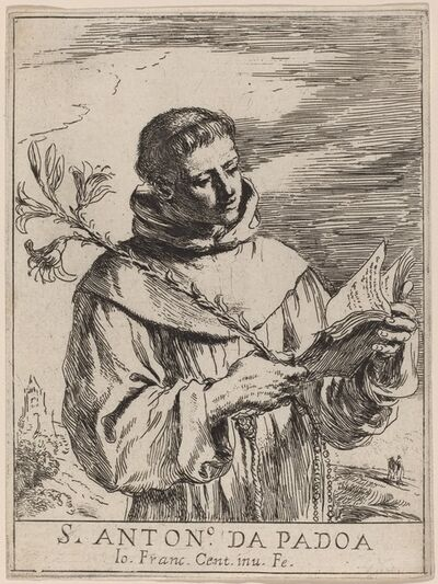 Guercino, 'Saint Anthony of Padua'