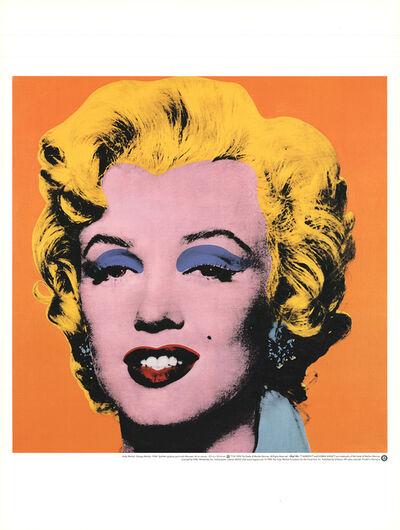 Andy Warhol, 'Marilyn, Orange Shot on White Background', 1998