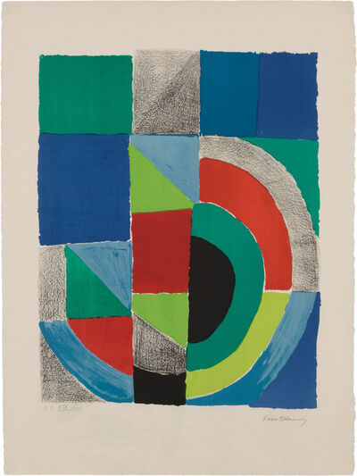 Sonia Delaunay, 'Carré Rouge'