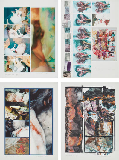 Carolee Schneemann, 'Four Kisses + Detail (Vesper); Dead Engineer-Kosovo; Hallucinatory I; and Hallucinatory II', 1999/2002