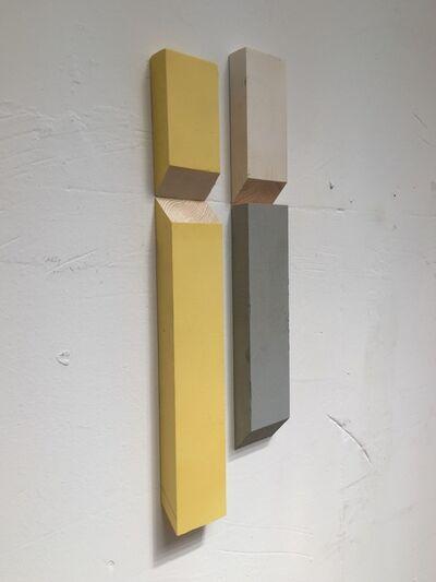 Luis Romero, ' Matche (Blanco/Amarillo/Gris)', 2019