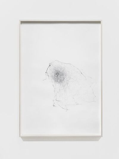 Tomás Saraceno, 'Semi-social mapping of KUG 1210+301B by a solo Cyrtophora citricola - two weeks', 2017