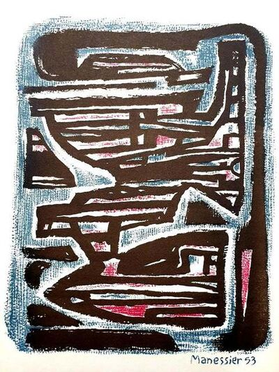 Alfred Manessier, 'Alfred Manessier - Maze - Original Lithograph', 1954