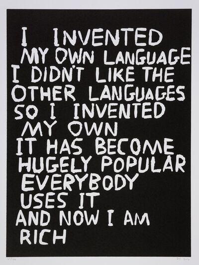 David Shrigley, 'Language', 2014