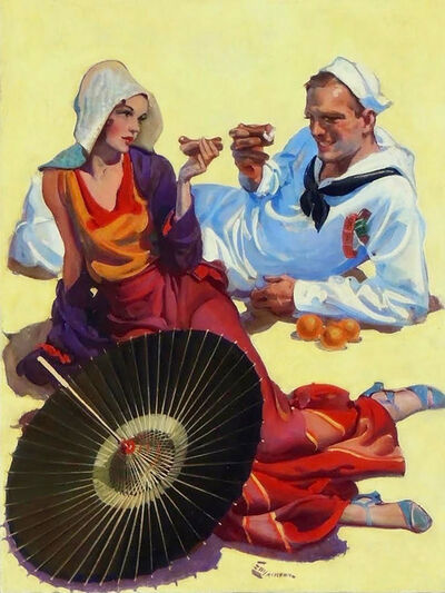 Elbert McGran Jackson, 'Shore Leave, Saturday Evening Post Cover, August 1931', 1931