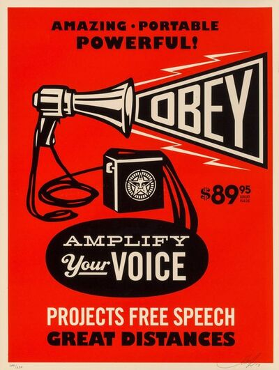 Shepard Fairey, 'Obey Megaphone Print', 2010