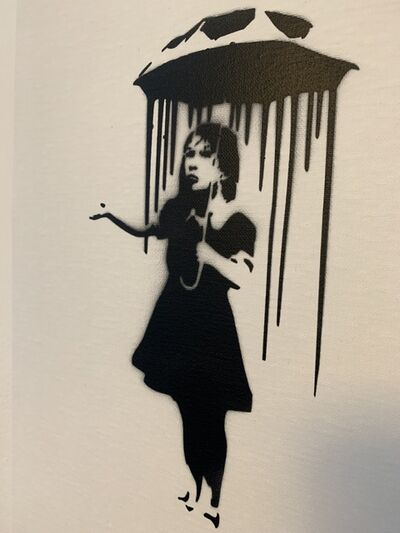 "Banksy, 'BANKSY DISMALAND ""NOLA, GIRL WITH UMBRELLA"" WITH COA', 2015"