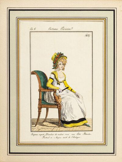 Philibert-Louis Debucourt, 'Costume Parisien - Model n. 48 - From Modes et Manières du jour à Paris...', Early 19th Century