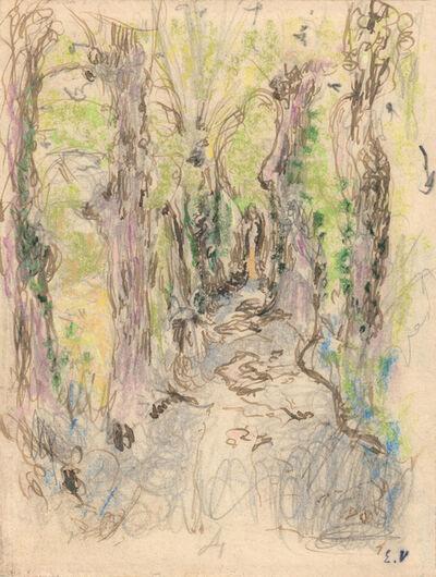 Édouard Vuillard, 'Etude pour L'Allée en sous-bois, Amfréville', 1905-1907