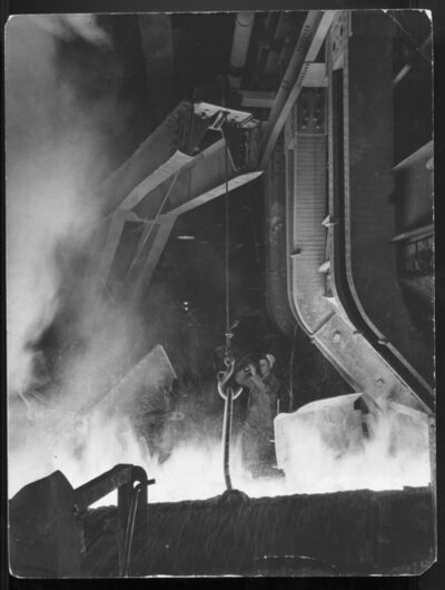 Margaret Bourke-White, 'Temperature Reading In Furnace ', 1943