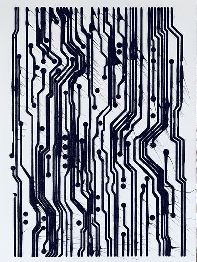 Analía Saban, 'Ink Circuit Board #1', 2019