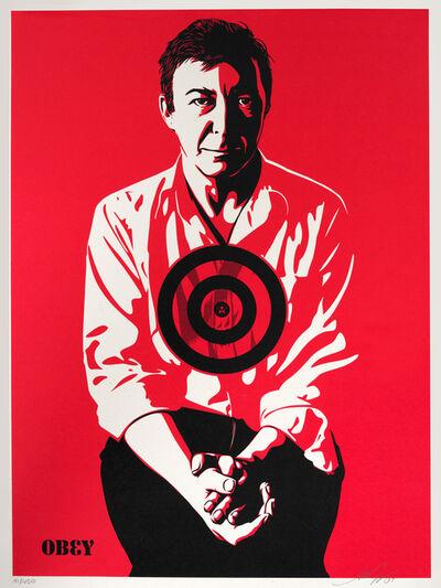 Shepard Fairey, 'JASPER JOHNS (RED', 2009