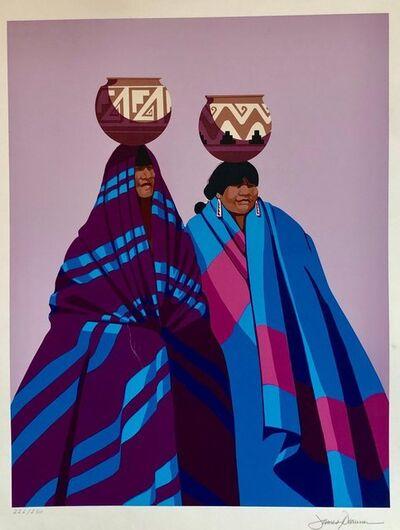 James Darum, 'Native American Indian Family, Old Southwest Silkscreen Serigraph James Darum', Late 20th Century
