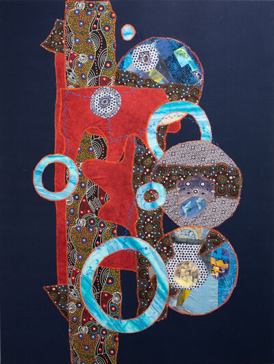 Jennifer Blalack, 'Family - Navy Blue + Red, International Fabric and Textile Collage', 2021