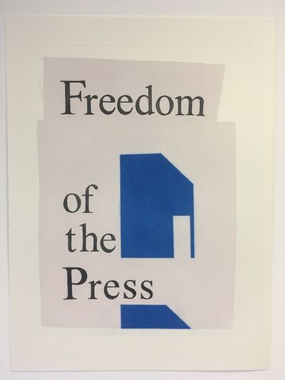Ciara Phillips, 'Freedom of the Press', 2017