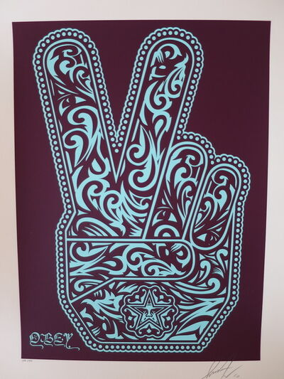 Shepard Fairey (OBEY), 'Obey Peace Fingers', 2010