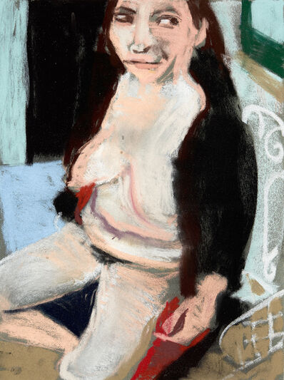 Chantal Joffe, 'Self-Portrait in a Fake Fur Coat II', 2016