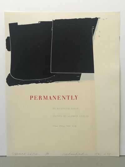 Alfred Leslie, 'Permanently', 1961