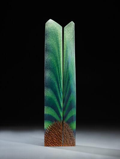 Alex Gabriel Bernstein, 'Radiant Green Diptych'