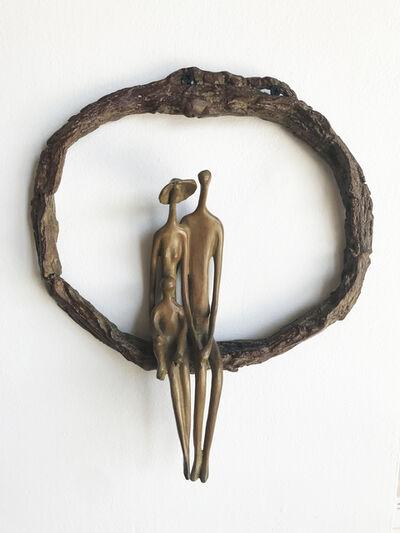 Ruth Bloch, 'Wall Sculpture Round (Light w/Child)', 2018