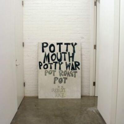 Dan Colen, 'Potty Mouth Potty War', 2006