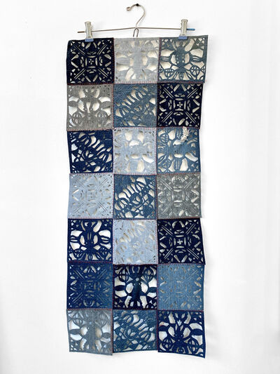 Libby Newell, 'Meticulously Distressed Denim, Lace Patchwork', 2021