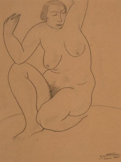 Antonio Gattorno, 'Female Nude Study, Paris', 1926