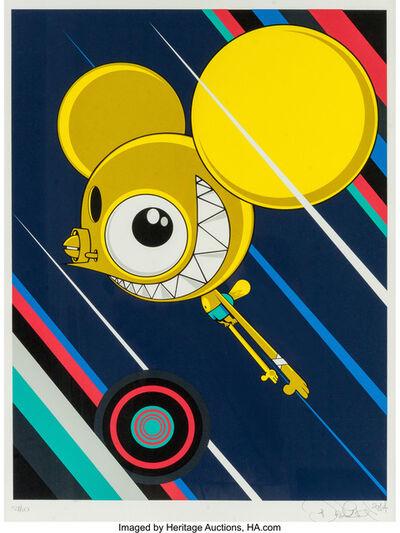 James Marshall (Dalek), 'Space Monkey-Yellow', 2017