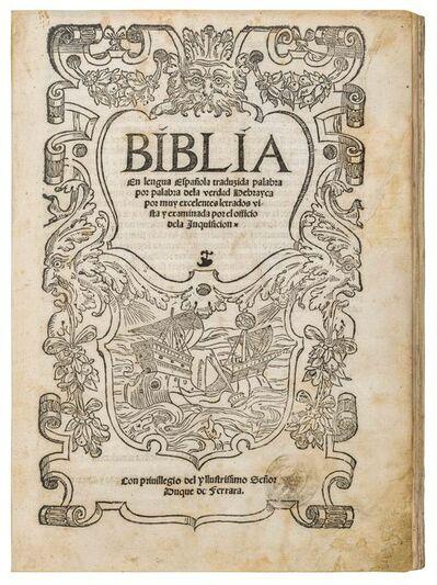 Anonymous, 'BIBLIA En lengua Española', 1553