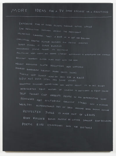 Scott Reeder, 'More Ideas for a tv show episode or a painting', 2017