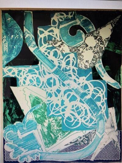 Frank Stella, 'Swan Engraving Blue, Green, Grey', 1985