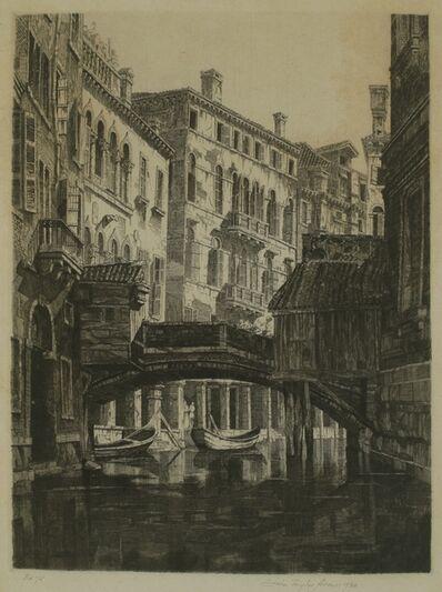 John Taylor Arms, 'Rio del Santi Apostoli, Venice', 1930