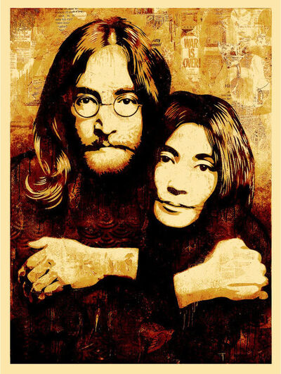 Shepard Fairey, 'John & Yoko Canvas Print', 2010