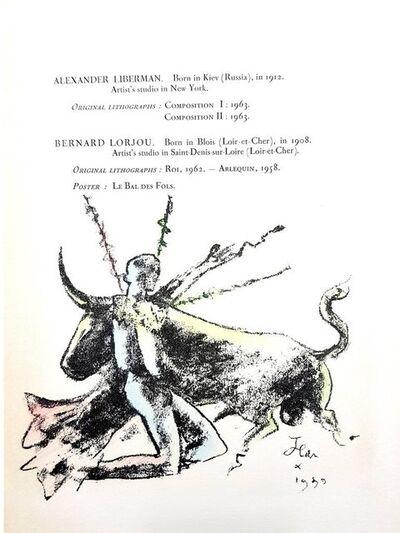 """Jean Cocteau, 'Original Lithograph """"Toréador"""" by Jean Cocteau', 1964"""