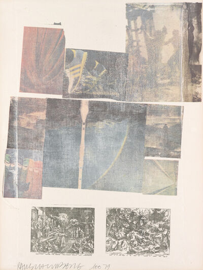Robert Rauschenberg, 'People Have Enough Trouble Without Being Intimidated By An Artichoke', 1979