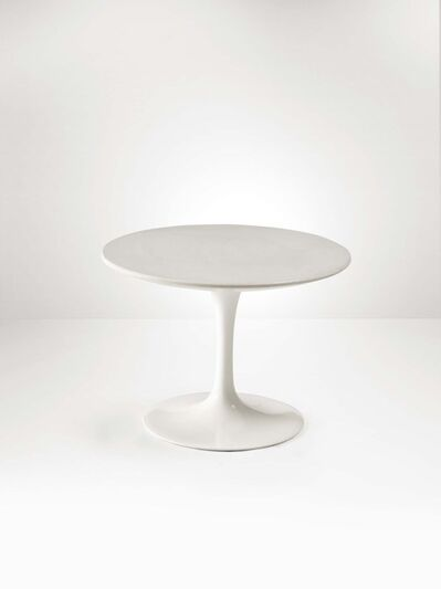 Eero Saarinen, 'A low table with a molten aluminum base and a lacquered wood top', 1970 ca.