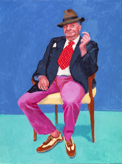 David Hockney, 'Barry Humphries', 2015