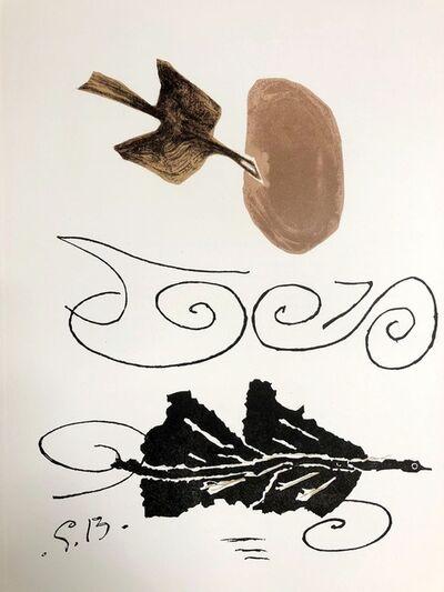 Georges Braque, 'L'oiseau', 1956